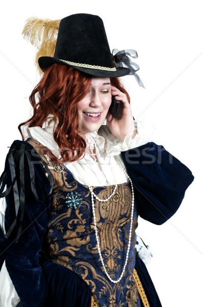 ストックフォト: 女性 · 本物の · ドレス · ファッション · ヨーロッパ · コール