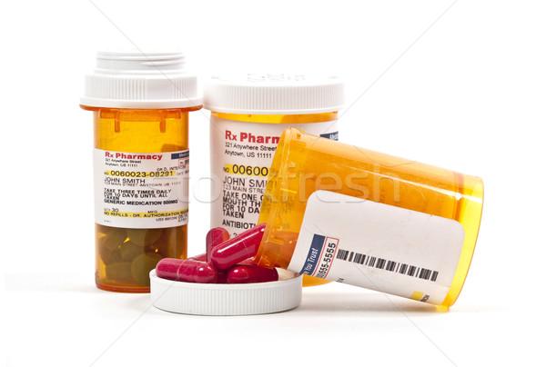 Bottiglia prescrizione pillole medici paziente Foto d'archivio © piedmontphoto