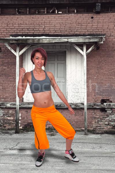 Hip-hop kadın güzel genç kentsel Stok fotoğraf © piedmontphoto