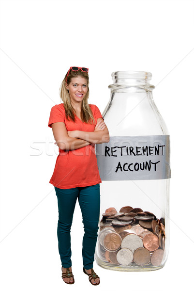 Woman and Her Retirement Account Stock photo © piedmontphoto