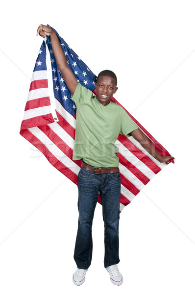 Man with Flag Stock photo © piedmontphoto