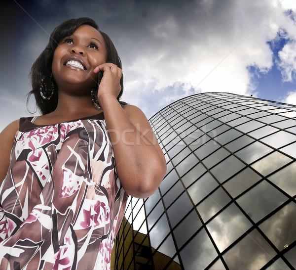 女性の携帯電話 美人 話し 携帯電話 ビジネス 電話 ストックフォト © piedmontphoto