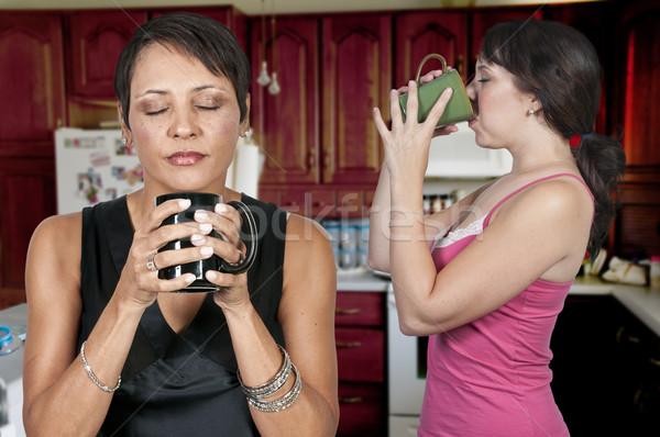 Women Drinking Coffee Stock photo © piedmontphoto