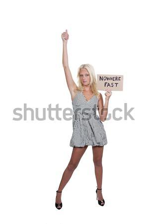 Woman Holding Jesus Sign Stock photo © piedmontphoto