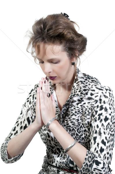 Mujer rezando hermosa Christian profundo oración Foto stock © piedmontphoto
