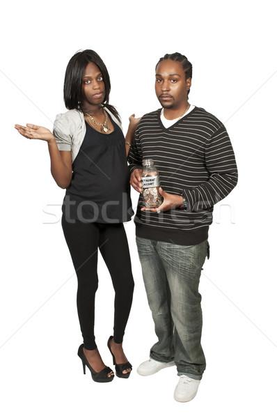 Couple retraite compte noir Photo stock © piedmontphoto