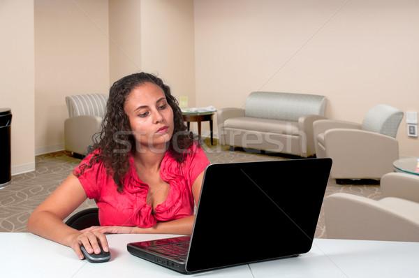 Woman Using Laptop Stock photo © piedmontphoto