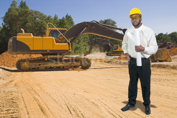 Construction Worker with Clipboard Stock photo © piedmontphoto