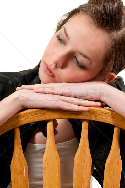 Beautiful Woman Sitting Stock photo © piedmontphoto