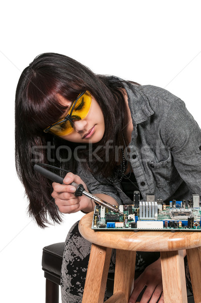 Woman soldering Stock photo © piedmontphoto