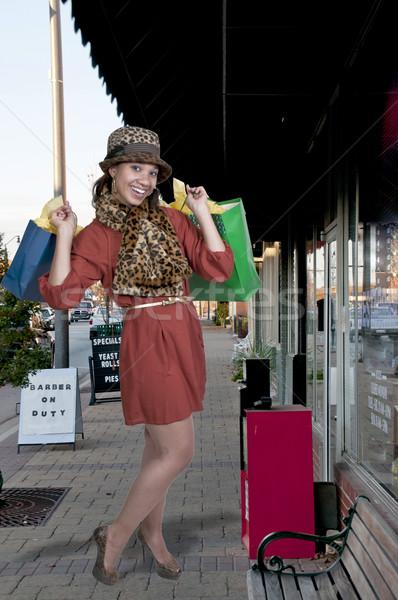 女性 ショッピング 小さな 美しい 黒 アフリカ系アメリカ人 ストックフォト © piedmontphoto
