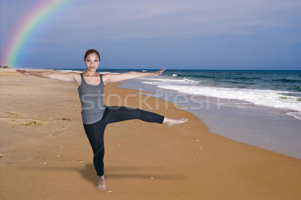 Woman Doing Yoga Stock photo © piedmontphoto