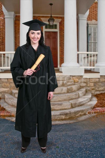 Absolwent młoda kobieta ukończeniu kobieta student młodych Zdjęcia stock © piedmontphoto