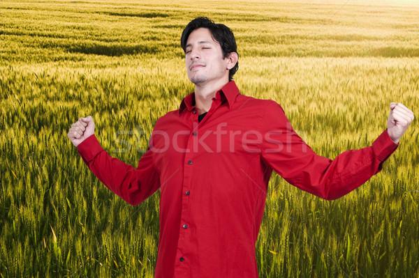 человека красивый мужчина области весны стороны Сток-фото © piedmontphoto