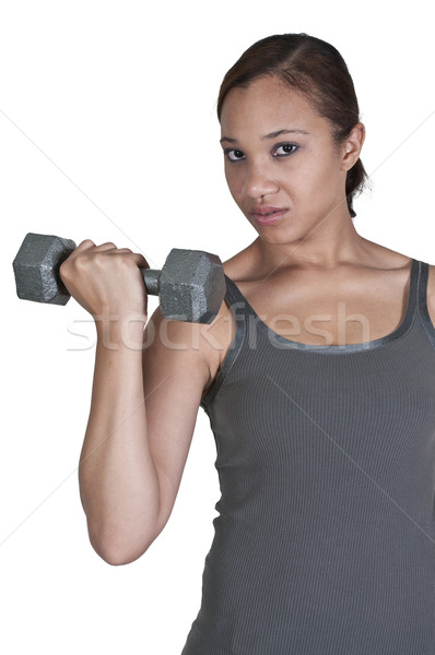 Woman Working with Weights Stock photo © piedmontphoto