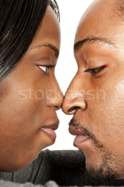 Stok fotoğraf: Siyah · çift · genç · sevmek · kadın