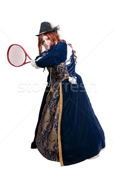 女性 本物の ドレス 演奏 テニス ファッション ストックフォト © piedmontphoto