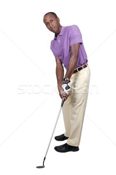 ストックフォト: 男 · ゴルファー · ハンサムな男 · 演奏 · スポーツ · ゴルフ