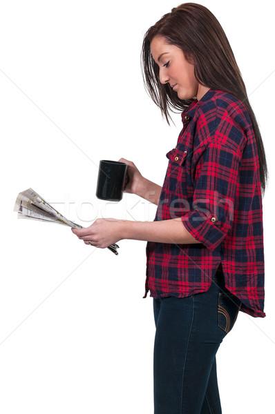 女性 飲料 コーヒー 美しい 若い女性 午前 ストックフォト © piedmontphoto