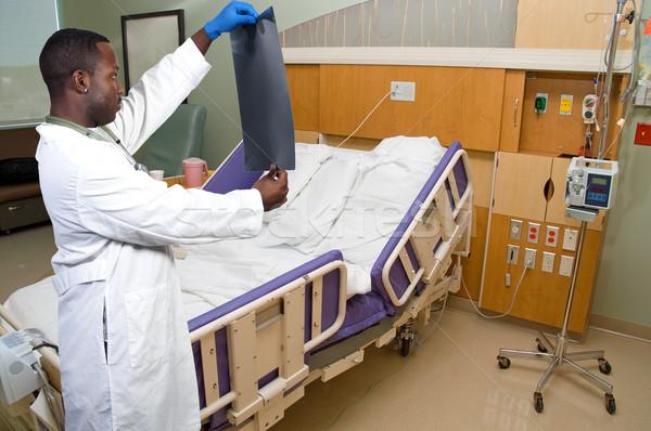 Doktor xray siyah adam radyolog Stok fotoğraf © piedmontphoto