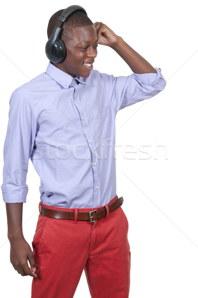 Teenage boy listening to Headphones Stock photo © piedmontphoto