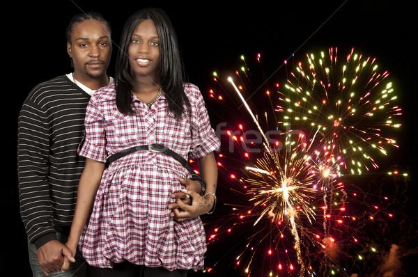 Szülők fekete afroamerikai pár fiatal férfi Stock fotó © piedmontphoto