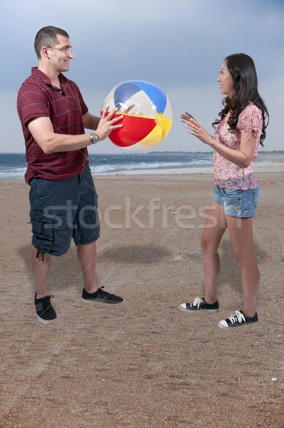 Couple with Beach Ball Stock photo © piedmontphoto