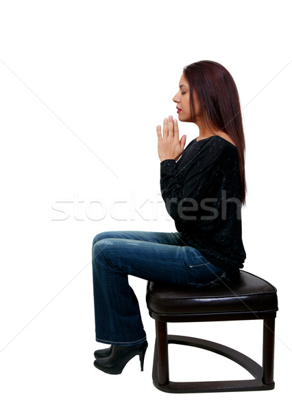 Hispanic Latino woman praying Stock photo © piedmontphoto