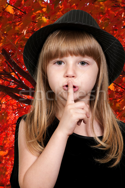 Girl Saying Be Quiet Stock photo © piedmontphoto
