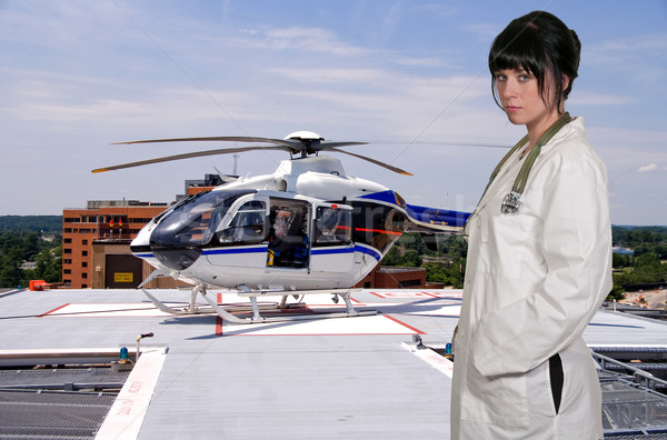 Doctor and Life Flight Helecopter Stock photo © piedmontphoto