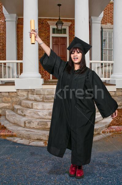 大学院 小さな ヒスパニック 女性 卒業 学生 ストックフォト © piedmontphoto