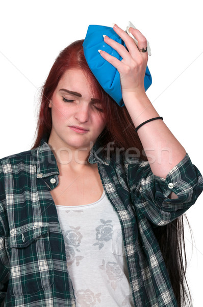 Woman with Headache Stock photo © piedmontphoto