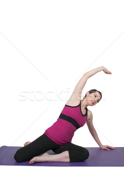 Kobieta jogi piękna kobieta postawa dziewczyna kobiet Zdjęcia stock © piedmontphoto