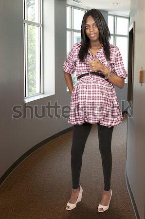 ストックフォト: 医師 · 女性 · 聴診器 · 診断 · 笑顔