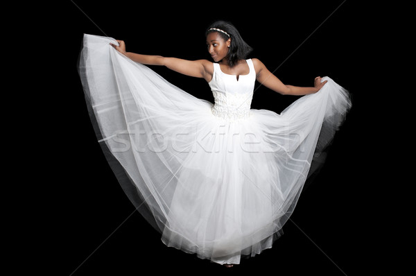 Black woman in wedding dress Stock photo © piedmontphoto