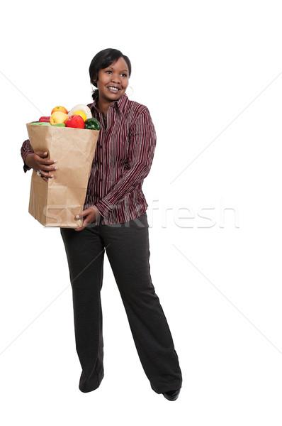 女性 ショッピングバッグ 美しい 若い女性 ショッピングバッグ ストックフォト © piedmontphoto