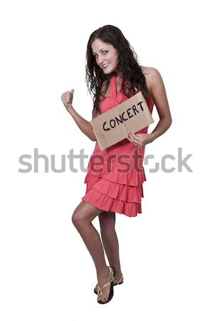 Woman Holding Accordian Stock photo © piedmontphoto