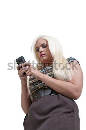 女性の携帯電話 美しい 若い女性 話し 電話 ビジネス ストックフォト © piedmontphoto