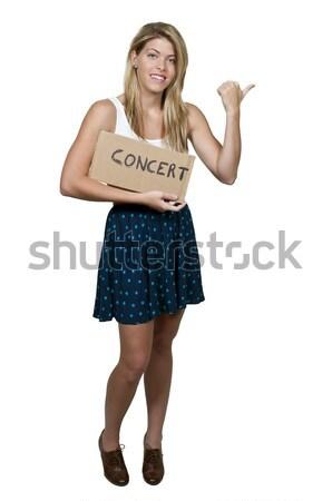 Werk gezondheidszorg mooie vrouw teken vrouw Stockfoto © piedmontphoto