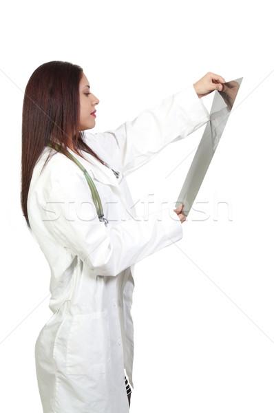 Kadın radyolog güzel koyu esmer kadın Stok fotoğraf © piedmontphoto