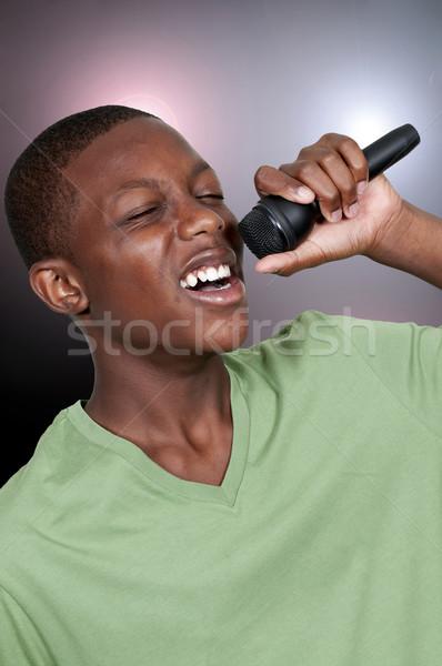 十代の 歌手 小さな 黒 アフリカ系アメリカ人 少年 ストックフォト © piedmontphoto