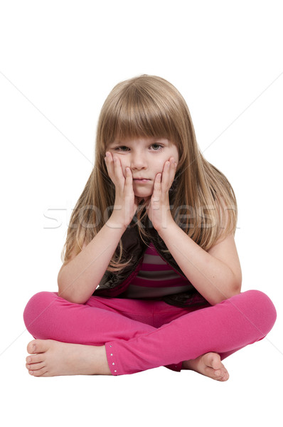 Little Girl Sitting Stock photo © piedmontphoto