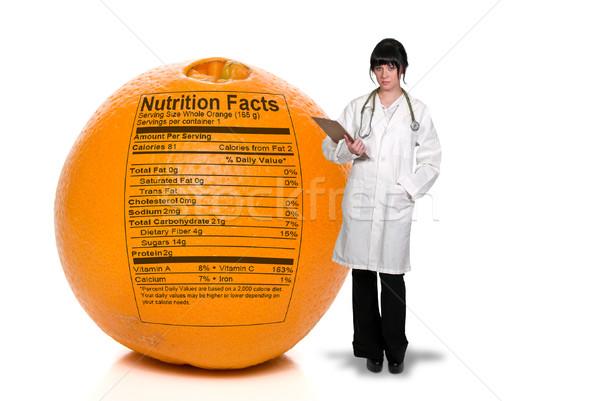 医師 オレンジ 栄養 事実 印刷 ストックフォト © piedmontphoto