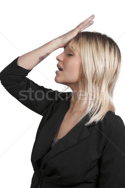 забывчивый женщину красивой стороны лоб девушки Сток-фото © piedmontphoto