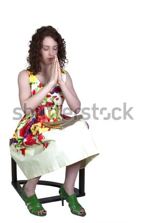 Mulher dolorido pé belo jovem mulher de negócios Foto stock © piedmontphoto