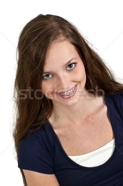 美人 小さな 少女 笑顔 顔 女性 ストックフォト © piedmontphoto
