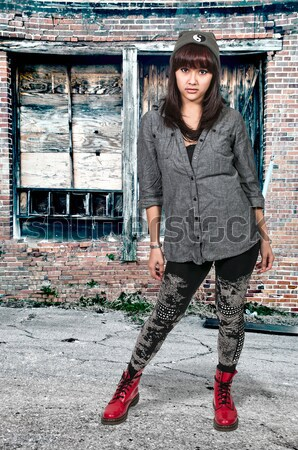 Mooie getatoeëerd vrouw jonge vrouw kwaliteit artistiek Stockfoto © piedmontphoto