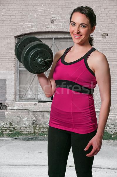 Kobieta pracy wagi piękna młoda kobieta dziewczyna Zdjęcia stock © piedmontphoto