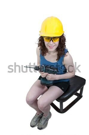 アジア 女性 建設作業員 仕事 サイト 女性 ストックフォト © piedmontphoto