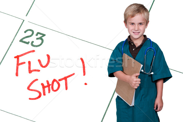 Little Doctor Flu Shot Stock photo © piedmontphoto